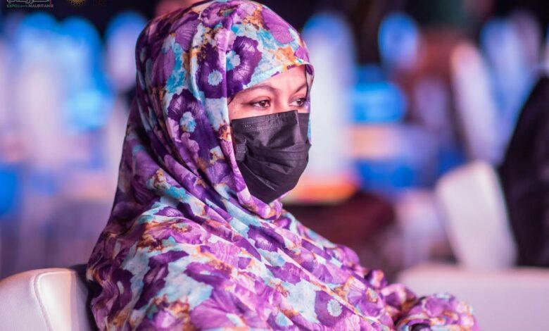 Mme Naha Mint Mouknass, ministre du commerce, de l'industrie, de l'artisanat et du tourisme au Global business Forum. Crédit photo @ MD MANGANE-TRUE VISION